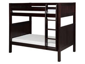Twin/Twin Panel Bunk Bed with Straight Ladder in Cappuccino