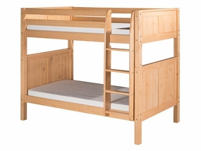 Twin/Twin Panel Bunk Bed with Straight Ladder in Natural