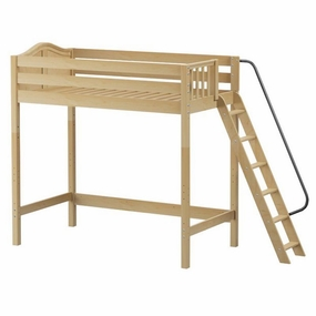 ULTRA Dunk High Loft Bed with Angled Ladder on End