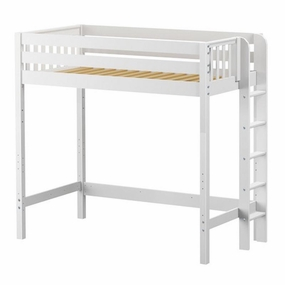 ULTRA Slam High Loft Bed with Straight Ladder on End