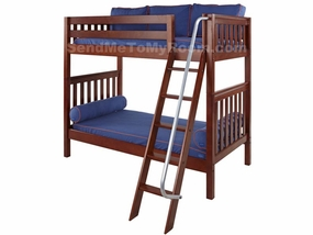 Venti High Bunk Bed with Angled Ladder and Handrail