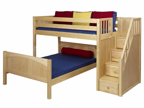 Lshaped Loft Bed with Stairs 500 x 375