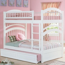 Windsor Twin/Twin Bunk Bed with Trundle in White