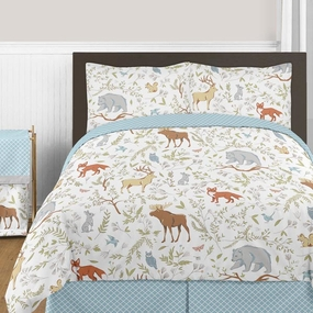 Woodland Toile Kids Bedding Collection