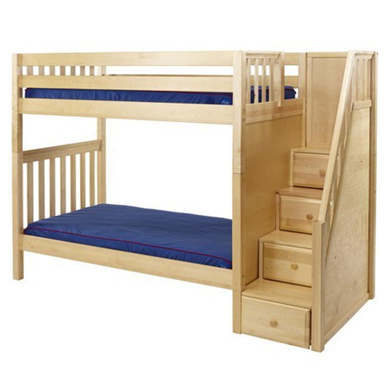 Maxtrix Wopper High Bunk Bed with Staircase - Bunk Beds