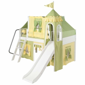 Wow 24 Twin Low Loft Castle Bed with Angled Ladder