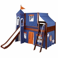 Wow 42 Twin Low Loft Castle Bed with Angled Ladder