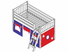 You're A Sweety 21 Twin Low Loft Bed with Medium/Low Bed Ends