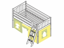 You're A Sweety 24 Low Loft Bed with Medium/Low Bed Ends