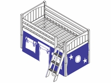 You're A Sweety 22 Twin Low Loft Bed with Medium/Low Bed Ends