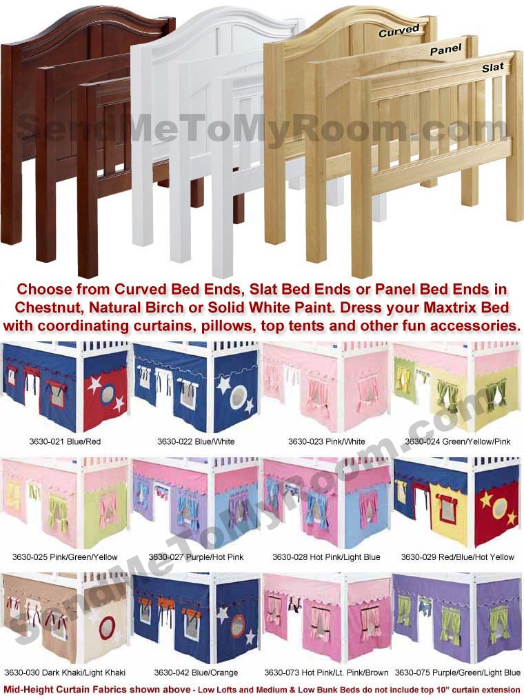 You're A Sweety 23 Twin Low Loft Bed with Medium/Low Bed Ends
