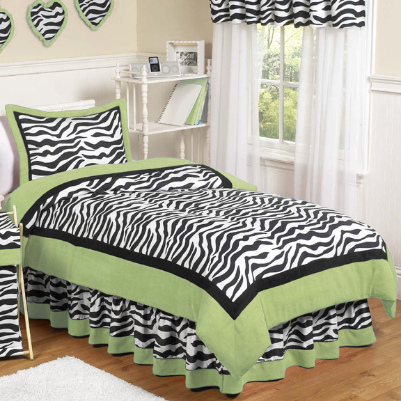 Zebra Lime Comforter Set