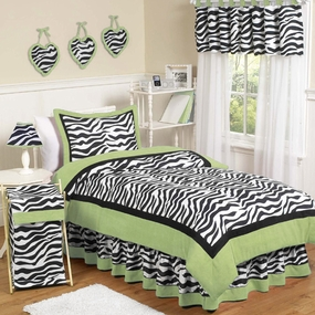 Zebra Lime Kids Bedding Collection