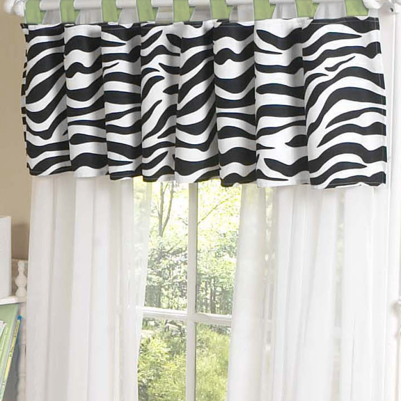Zebra Lime Window Valance