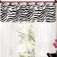 Zebra Pink Window Valance