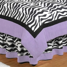 Zebra Purple Full/Queen Bed Skirt