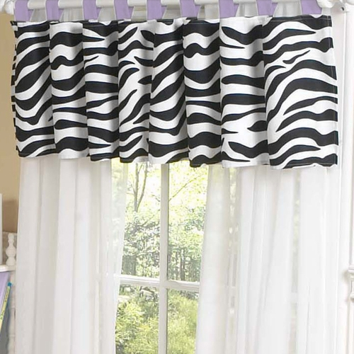 Zebra Purple Window Valance