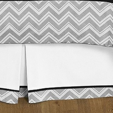 Zig Zag Black & Gray Full/Queen Bed Skirt
