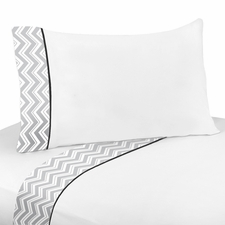 Zig Zag Black & Gray Kids Sheet Set