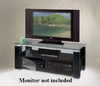 Elite 47-Inch Wide TV Stand- A/V Combination Unit in High Gloss Black Lacquer  ELT9452