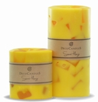 "Sweet Mango Pillar Cadles<br><font name=""Arial"" color=""#C9CFC9""size=2>Scented Pillar Candles"