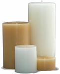 Unscented Pillar<br> Candles