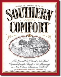 Southern Comfort Label Liquor Sign