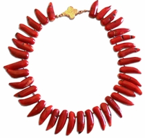 Ammons Necklace - Red Coral