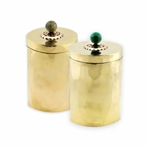 Tall Brass Canister