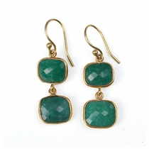 Whitten Drops Earwire - Emerald