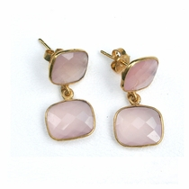Whitten Drops - Rose Chalcedony