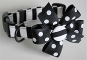 <center> Black and White Chic DOG FabuCollar®! </center>