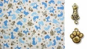 Blue Silhouette Cats - Cat  Bandana or Scarf