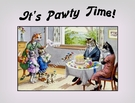 CAT Family Birthday or Anniversary Celebration Party Invitation or Note Card from a Vintage Post Card!