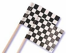 Checkered Flag Cupcake Picks