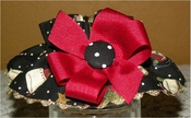 <center> Christmas Stockings and Dots on Black Nathans Wiener Circle Collar! </center>