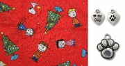 Christmas Time is Here Snoopy DOG Bandana or Scarf