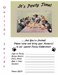 DACHSHUNDS Celebration Toast Party Invitation or Note Card from Vintage Post Card!