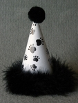 DOG or CAT Paw Print Party Hat