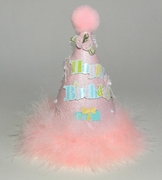 DOG or  CAT Pink Birthday Party Hat