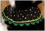 DOG or CAT Birthday Party Polka Dot Collar in Green from Nathan's Wiener Circles!