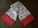 Folk Art Santa and CATS Table Runner