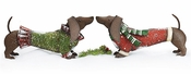 Large Tin Dachshunds For Seasonal and Holiday Decor!