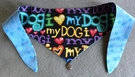 <center><B>  I Love My Dog Fabric Dog Bandana or Scarf  <B></center>