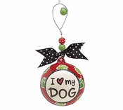 BIG I Love My Dog Holiday Ornament!