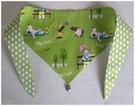 Lazy Dog Days  Green and Polka Dot Dog Bandana!