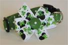 <center> Mickey and Minnie St. Patrick's Dog Collar </center>