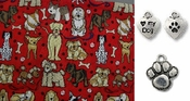 Multi Breeds of Dogs and Bones Dog Bandana or Scarf