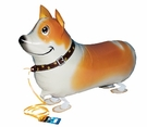 "My Own Pet  26"" Corgi Walking Pet Mylar Balloon"