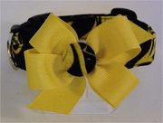 <center> Onyx and Gold Dog FabuCollar® </center>